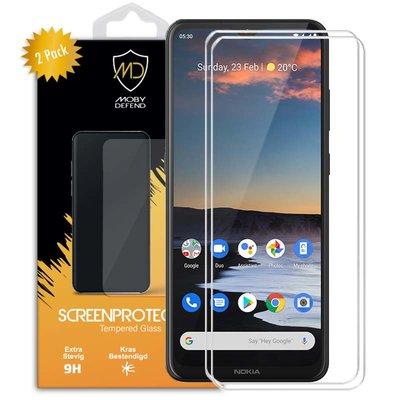 2-Pack Nokia 5.3 Screenprotectors, MobyDefend Case-Friendly Gehard Glas Screensavers