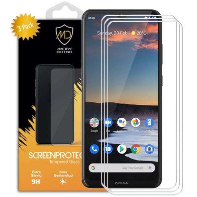 3-Pack Nokia 5.3 Screenprotectors, MobyDefend Case-Friendly Gehard Glas Screensavers