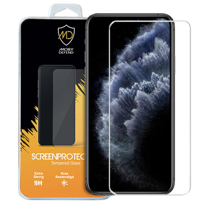Apple iPhone 11 Pro Max / iPhone XS Max screenprotector, MobyDefend Case-Friendly Gehard Glas Screensaver