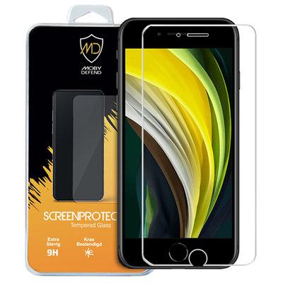 Apple iPhone SE (2020) / iPhone 7 / iPhone 8 screenprotector, MobyDefend Case-Friendly Gehard Glas Screensaver