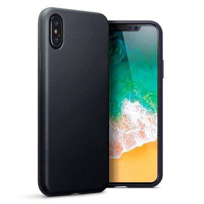 Apple iPhone X / iPhone XS hoesje, gel case, mat zwart