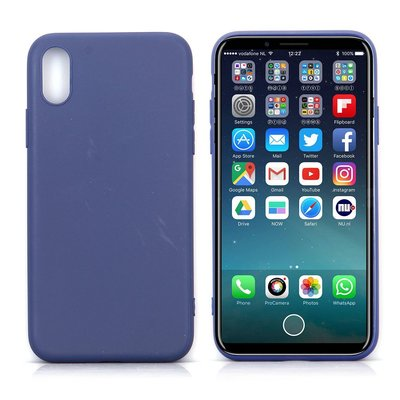 Apple iPhone X / iPhone XS hoesje, gel case, blauw