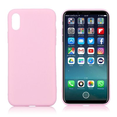 Apple iPhone X / iPhone XS hoesje, gel case, roze