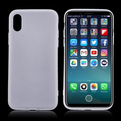 Apple iPhone X / iPhone XS hoesje, gel case, wit