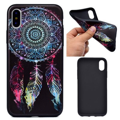 Apple iPhone X / iPhone XS hoesje, gel case met print, dromenvanger