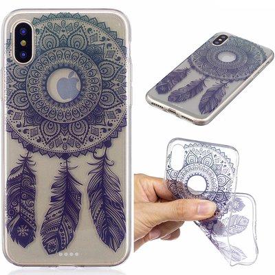 Apple iPhone X / iPhone XS hoesje, doorzichtige gel case met print, dromenvanger