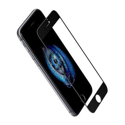 Apple iPhone 7 Plus / iPhone 8 Plus screenprotector, Tempered glass (glazen screenprotector), zwart