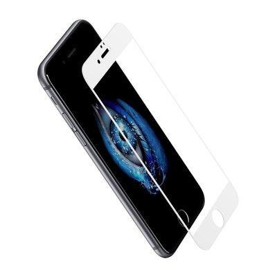Apple iPhone 7 Plus / iPhone 8 Plus screenprotector, Tempered glass (glazen screenprotector), wit