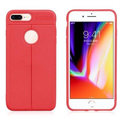 Apple iPhone 7 Plus / iPhone 8 Plus hoesje, gel case, rood