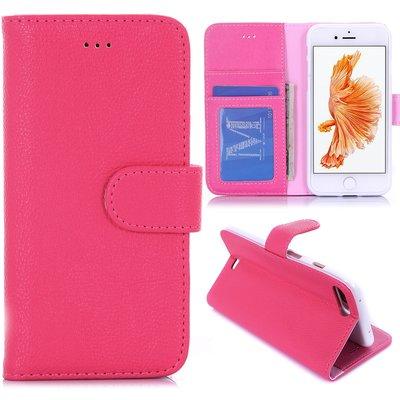 Apple iPhone 7 Plus / iPhone 8 Plus hoesje, 3-in-1 bookcase, donker roze