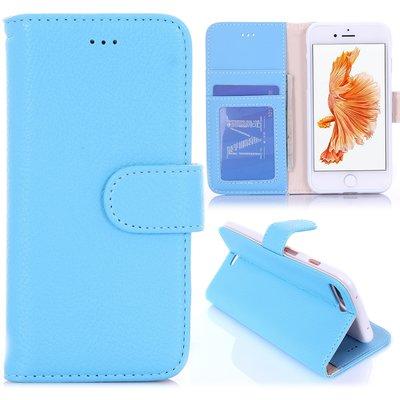 Apple iPhone 7 Plus / iPhone 8 Plus hoesje, 3-in-1 bookcase, licht blauw