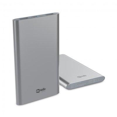 BeHello powerbank 4000 mAh, zilver , geschikt voor alle toestellen