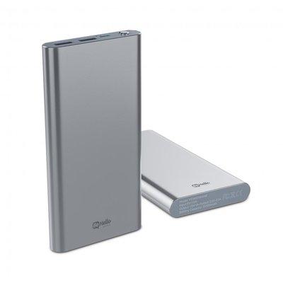 BeHello powerbank 12000 mAh, zilver , geschikt voor alle toestellen