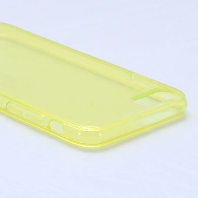 Apple iPhone 7 / iPhone 8 hoesje, gel case, doorzichtig geel