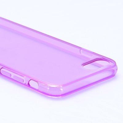 Apple iPhone 7 / iPhone 8 hoesje, gel case, doorzichtig paars