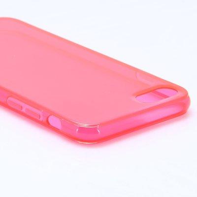 Apple iPhone 7 / iPhone 8 hoesje, gel case, doorzichtig rood
