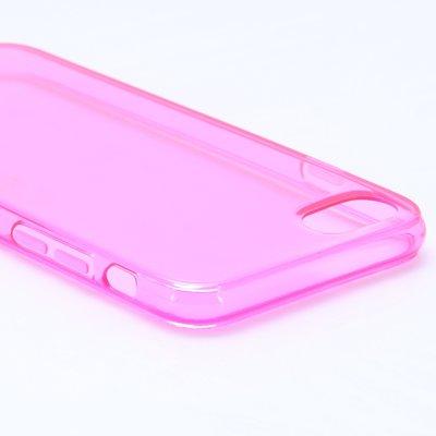 Apple iPhone 7 / iPhone 8 hoesje, gel case, doorzichtig roze