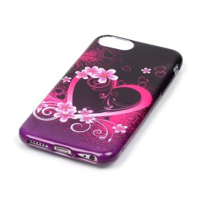 Apple iPhone 7 / iPhone 8 hoesje, gel case met print, hartje