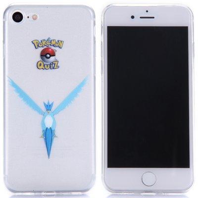 Apple iPhone 7 / iPhone 8 hoesje, doorzichtige gel case pokemon, Articuno