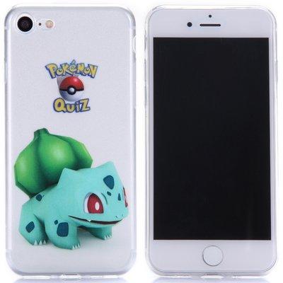 Apple iPhone 7 / iPhone 8 hoesje, doorzichtige gel case pokemon, Bulbasaur