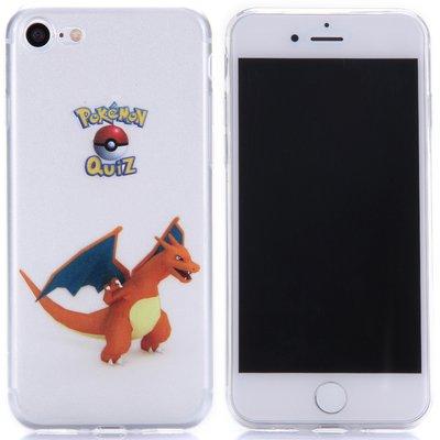 Apple iPhone 7 / iPhone 8 hoesje, doorzichtige gel case pokemon, Charizard
