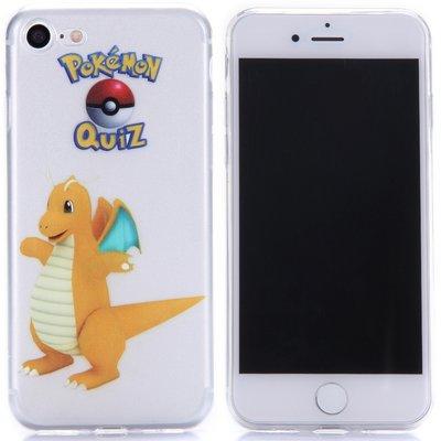 Apple iPhone 7 / iPhone 8 hoesje, doorzichtige gel case pokemon, Dragonite