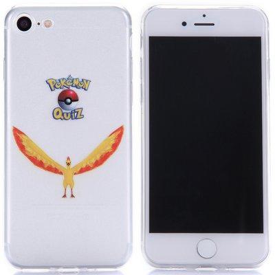 Apple iPhone 7 / iPhone 8 hoesje, doorzichtige gel case pokemon, Moltres