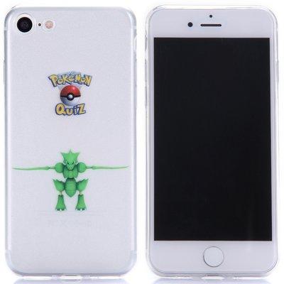 Apple iPhone 7 / iPhone 8 hoesje, doorzichtige gel case pokemon, Scyther