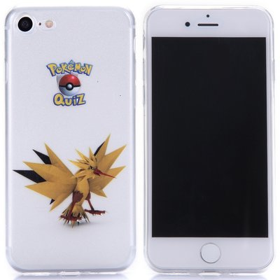 Apple iPhone 7 / iPhone 8 hoesje, doorzichtige gel case pokemon, Zapdos