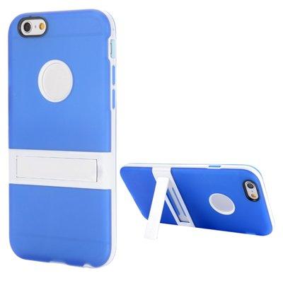 Apple iPhone 6 Plus / iPhone 6S Plus hoesje, gel case met uitklapbare standaard, blauw