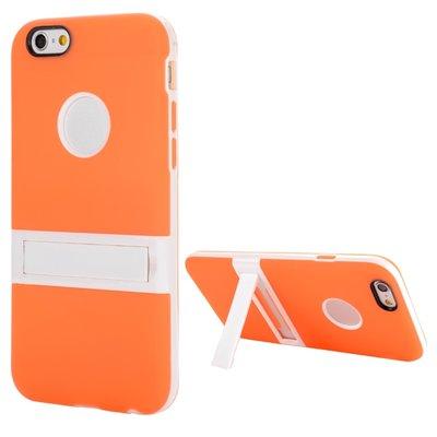 Apple iPhone 6 Plus / iPhone 6S Plus hoesje, gel case met uitklapbare standaard, oranje