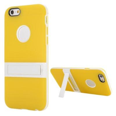 Apple iPhone 6 Plus / iPhone 6S Plus hoesje, gel case met uitklapbare standaard, geel
