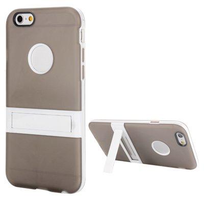 Apple iPhone 6 Plus / iPhone 6S Plus hoesje, gel case met uitklapbare standaard, grijs