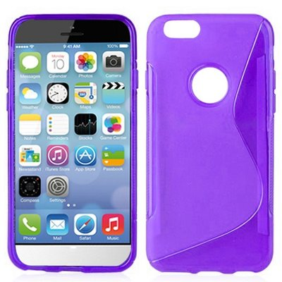 Apple iPhone 6 / iPhone 6S hoesje, s-line gel case, paars