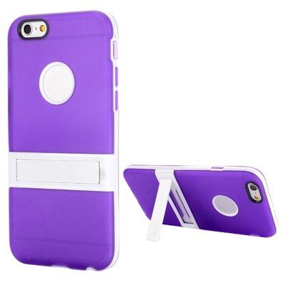 Apple iPhone 6 / iPhone 6S hoesje, gel case met uitklapbare standaard, paars