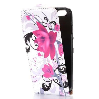 Apple iPhone 6 / iPhone 6S hoesje, flipcase met print, lotus