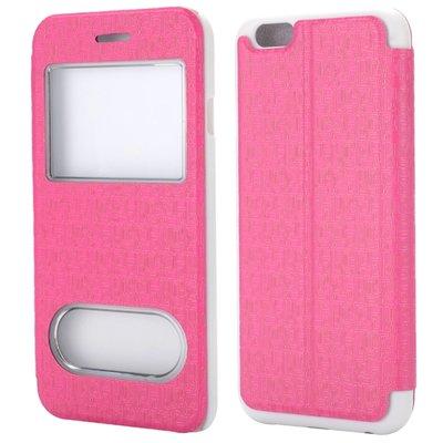 Apple iPhone 6 / iPhone 6S hoesje, window case, roze