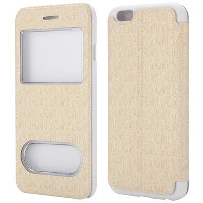 Apple iPhone 6 / iPhone 6S hoesje, window case, creme wit