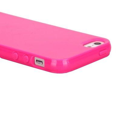 Apple iPhone 5 / iPhone 5S / iPhone SE hoesje, gel case, roze