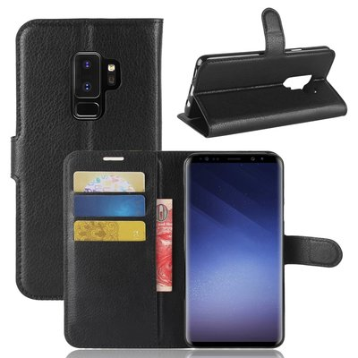 Samsung Galaxy S9 Plus (S9+) hoesje, 3-in-1 bookcase, zwart
