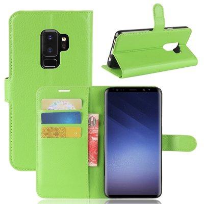 Samsung Galaxy S9 Plus (S9+) hoesje, 3-in-1 bookcase, groen