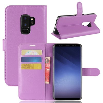 Samsung Galaxy S9 Plus (S9+) hoesje, 3-in-1 bookcase, paars