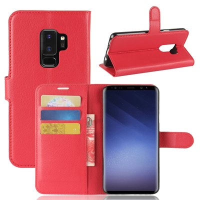 Samsung Galaxy S9 Plus (S9+) hoesje, 3-in-1 bookcase, rood