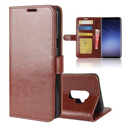 Samsung Galaxy S9 Plus (S9+) hoesje, 3-in-1 bookcase, bruin