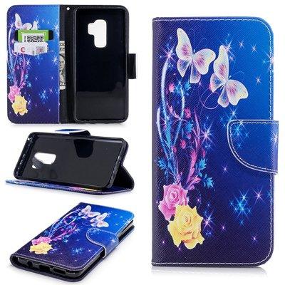 Samsung Galaxy S9 Plus (S9+) hoesje, 3-in-1 bookcase met print, saffier