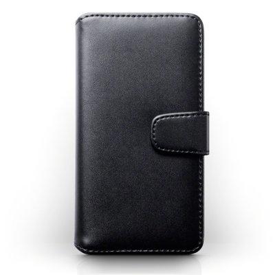 Samsung Galaxy S8 Plus (S8+) hoesje, echt lederen 3-in-1 bookcase, zwart
