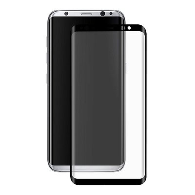 Samsung Galaxy S8 screenprotector, full screen tempered glass (glazen screenprotector), zwarte randen