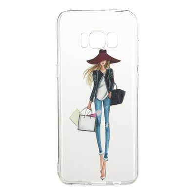 Samsung Galaxy S8 hoesje, gel case doorzichtig met print, model