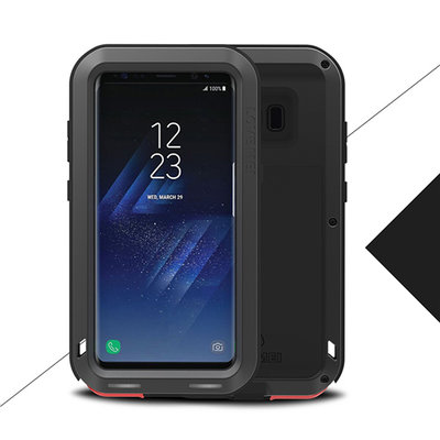Samsung Galaxy S8 hoes, Love Mei metalen extreme protection case, zwart