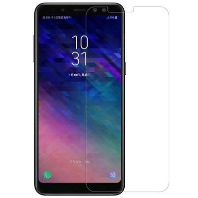 Samsung Galaxy A8 (2018) screenprotector, tempered glass (glazen screenprotector)